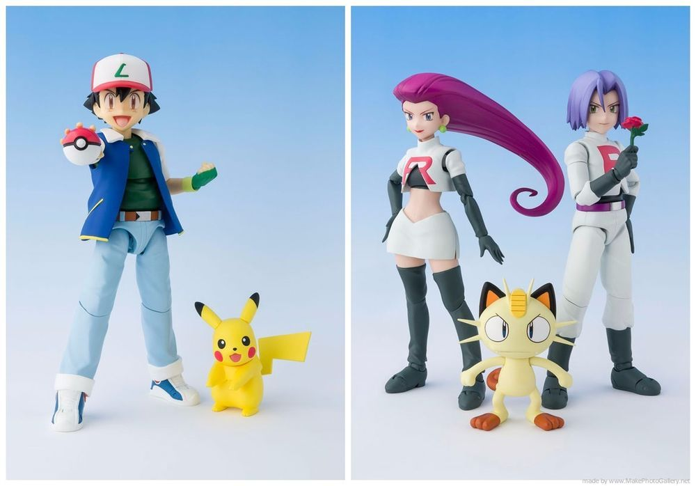 Bandai S.H.Figuarts Pokemon Ash Ketchum /& Pikachu Action Figure