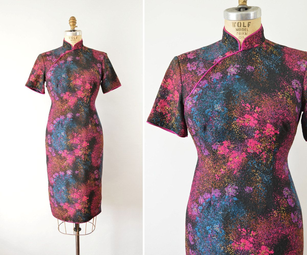 Jahrgang Cheongsam Kleid 50er Jahre 60er Jahre von