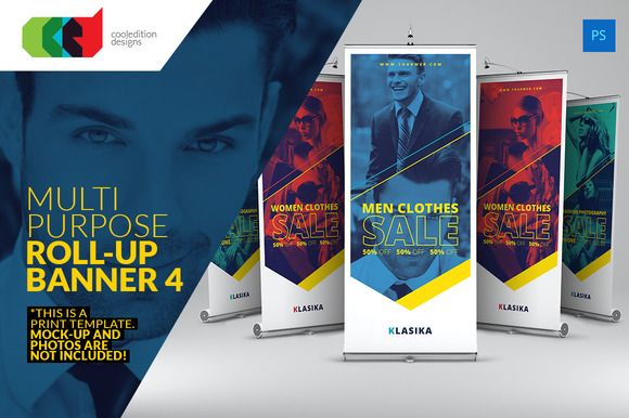 Check out Multipurpose Roll-Up Banner 4 by Cooledition on Creative ...