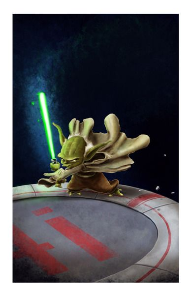 Master Yoda...a picture my husband drew.