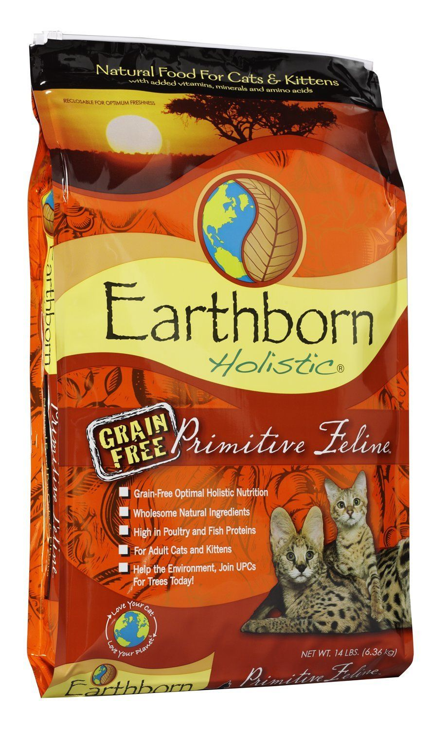 Earthborn Holistic Natural GrainFree Dry Cat Food >> Can