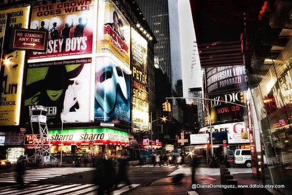 Times Square Photo New York City Photograph  NYC wall by ddfoto, $30.00