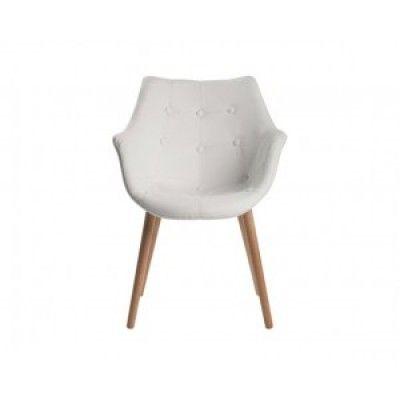 Avec une chaise aux pieds en bois chaise anders blanche 204 99 179 25 99 for Chaise design ikea