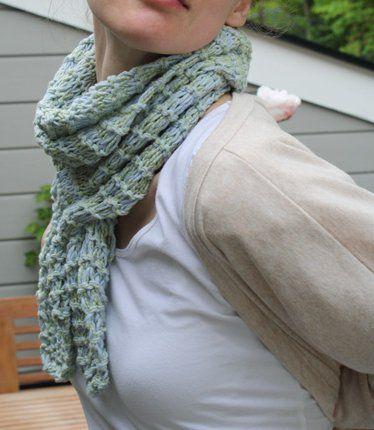 Slip Through Scarf For You Allfreeknitting Knitting
