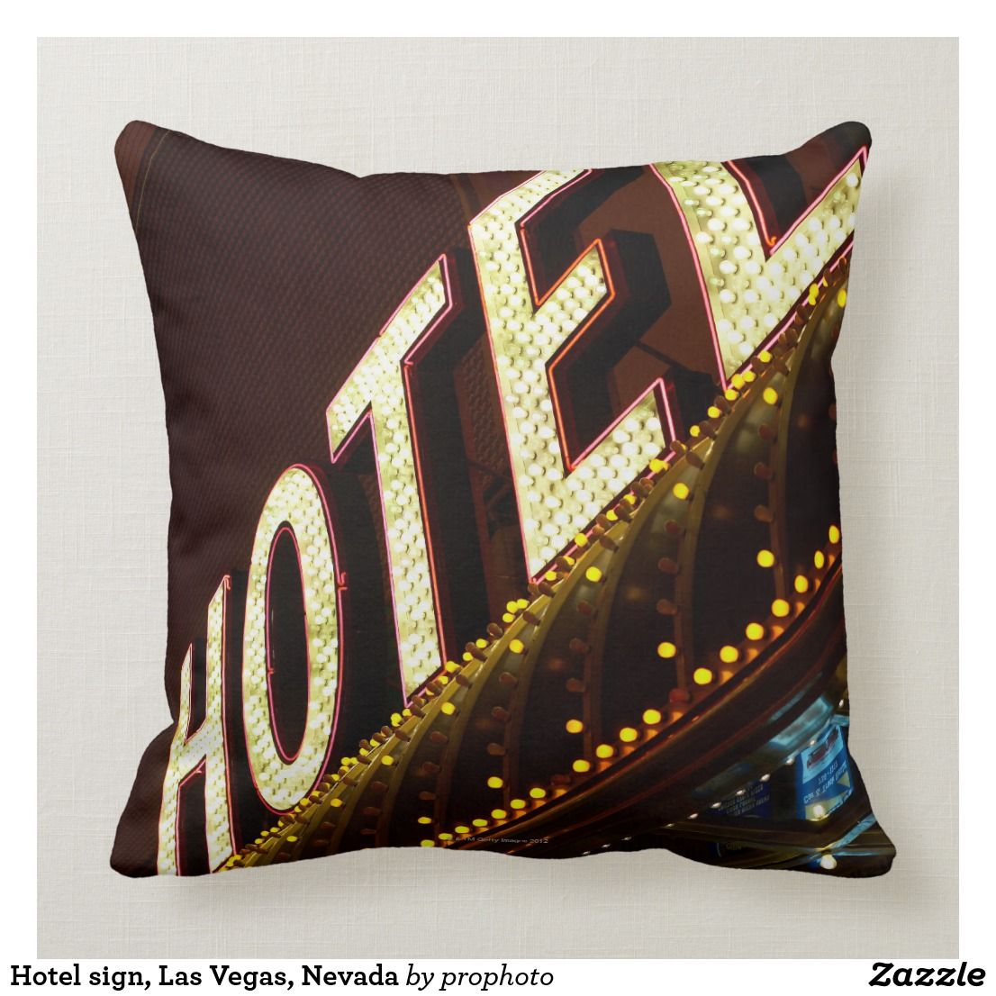 Hotel Sign Las Vegas Nevada Throw Pillow Zazzle Com With