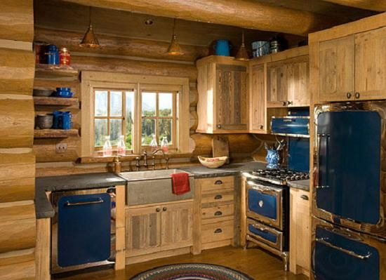 Incroyable Kitchen, Log Cabin Interiors And Log Cabins Rustic Log Cabin Kitchens:  Awesome Pictures Log Cabin Kitchens Ideas
