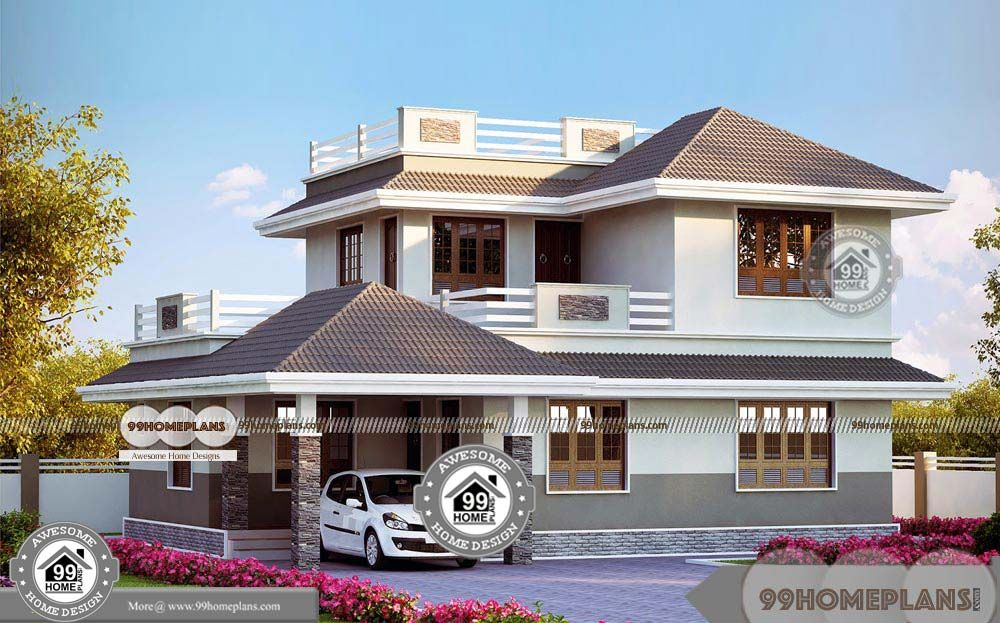 Large 2 Story House Plans Double Story Below 2000 Sq Ft Home With Low Economical Collections With New Duplex Styles Of Hom In 2020 House Styles House Plans Story House