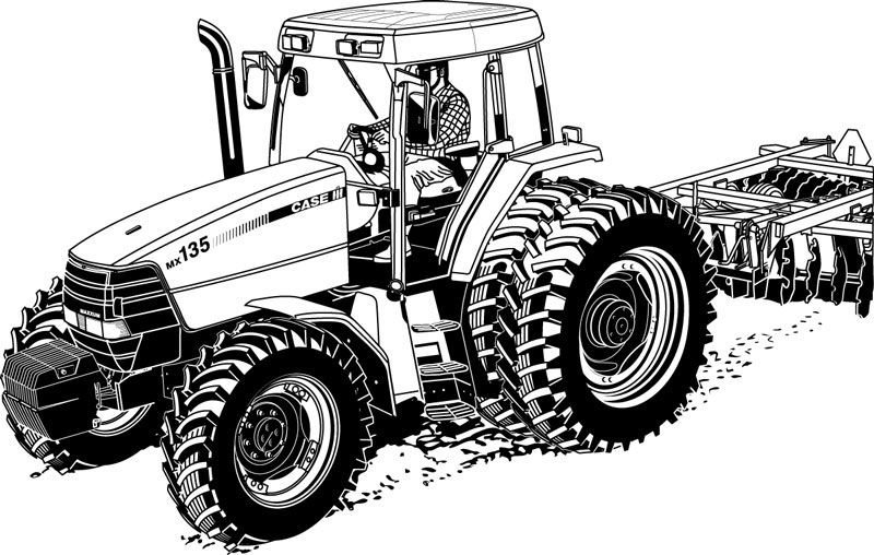 Realistic Tractor Coloring Pages Printable Tractor Coloring