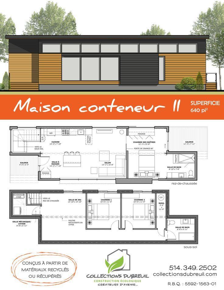 Maison en container maison petite maison déco maison maison conteneur maison passive