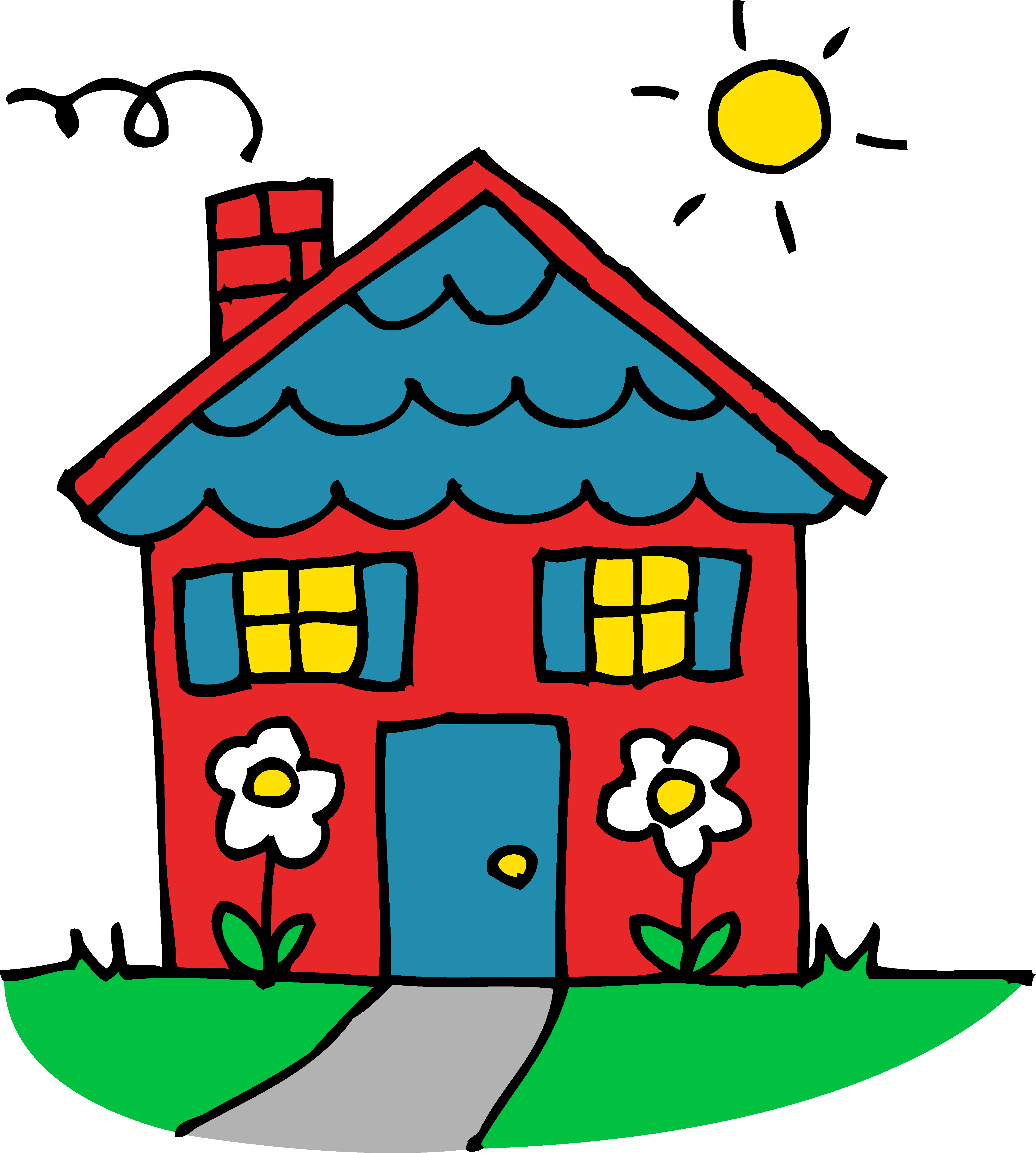 Home Clipart House Drawing For Kids Art Drawings For Kids Scenery Drawing For Kids