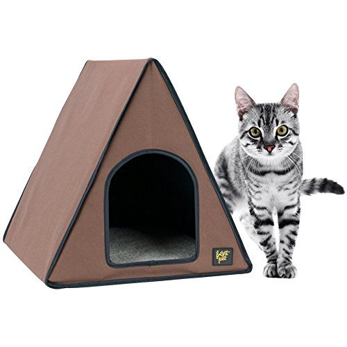 FrontPet 40 Watt Canvas Heated AFrame Cat House for Indoor Cats Cat House Cat Tent Heated  sc 1 st  Pinterest & FrontPet 40 Watt Canvas Heated AFrame Cat House for Indoor Cats ...