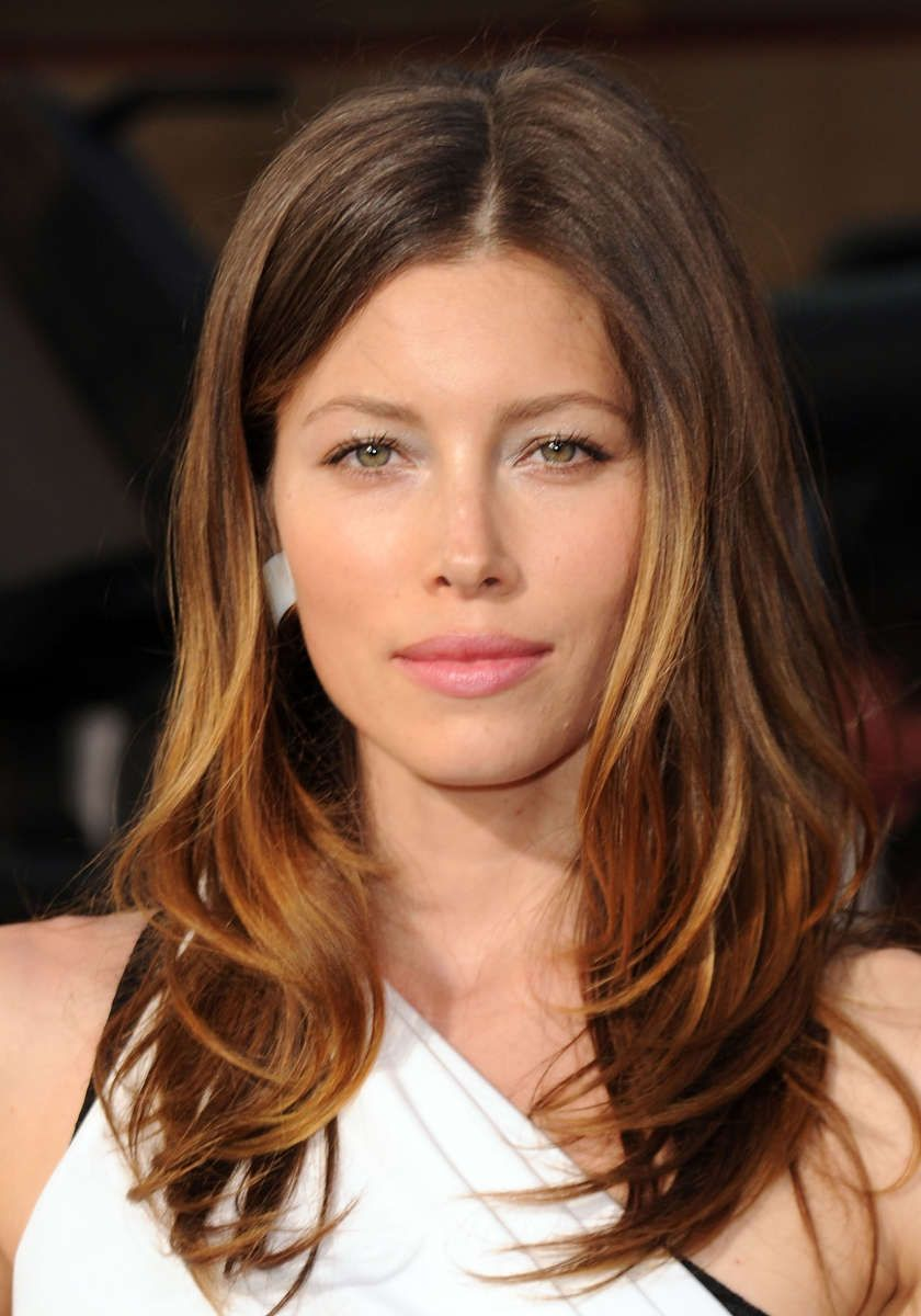 Jessica Biel Caramel Brown Hair Color 2017