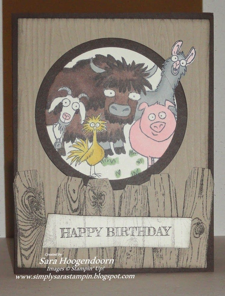 Its Your Birthday Using Stampin Up Set From The Herd And Colored In With Blendabilities