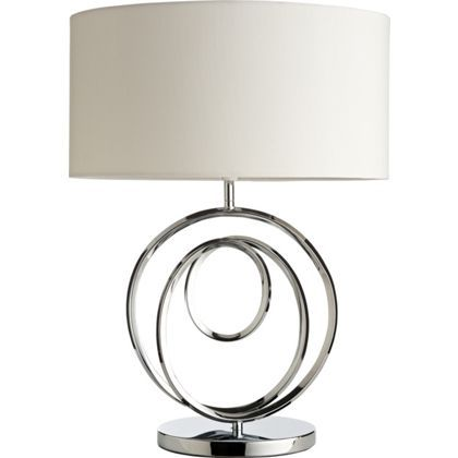 Telly table lamp cream and chrome lounge ideas pinterest fancy some low lighting or something more practical find a stylish table lamp to add to your living room or desk at homebase mozeypictures Images