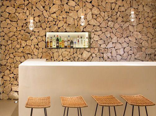 Bar Del Hotel Hm Balanguera Minimalista Rústico