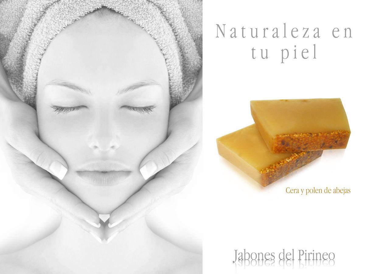Jabón natural de cera y polen de abejas