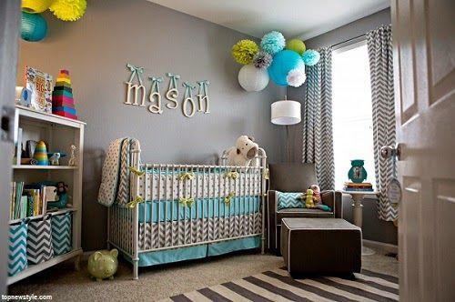 décoration bleu et gris | Déco bébé gris et bleu - Bébé et ...