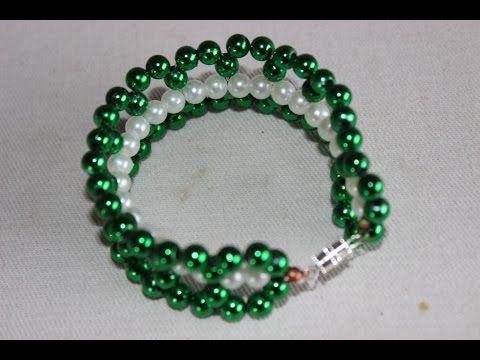 como hacer pulsera con tupis y perlas pearl bracelet youtube
