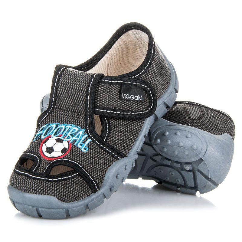 Kapcie Dzieciece Dla Dzieci Viggami Viggami Szare Buty Domowe Na Rzep Baby Shoes Sketchers Sneakers Sneakers