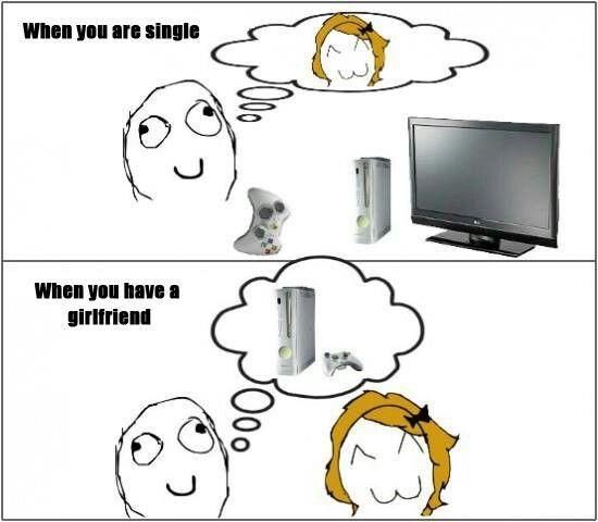 Xbox Vs Girlfriend Video Games Funny Funny Pix Geeky Humor