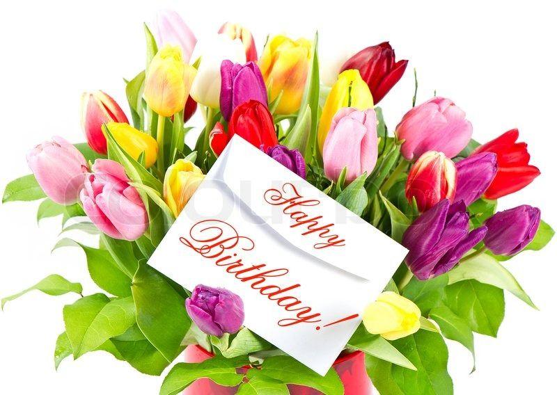 Happy Birthday Stock Foto Colourbox Herzliche Geburtstagsgrusse Alles Gute Zum Geburtstag Blumenstrauss Geburtstag Blumen