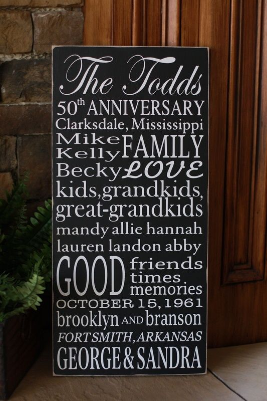 50th wedding anniversary gift for grandparents