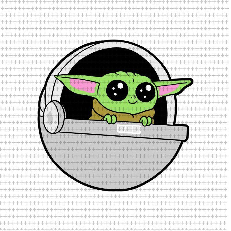 Baby Yoda Svg Star Wars Svg The Mandalorian The Child Svg Png Dxf Eps Buy T Shirt Design Artwork Yoda Png Yoda Svg