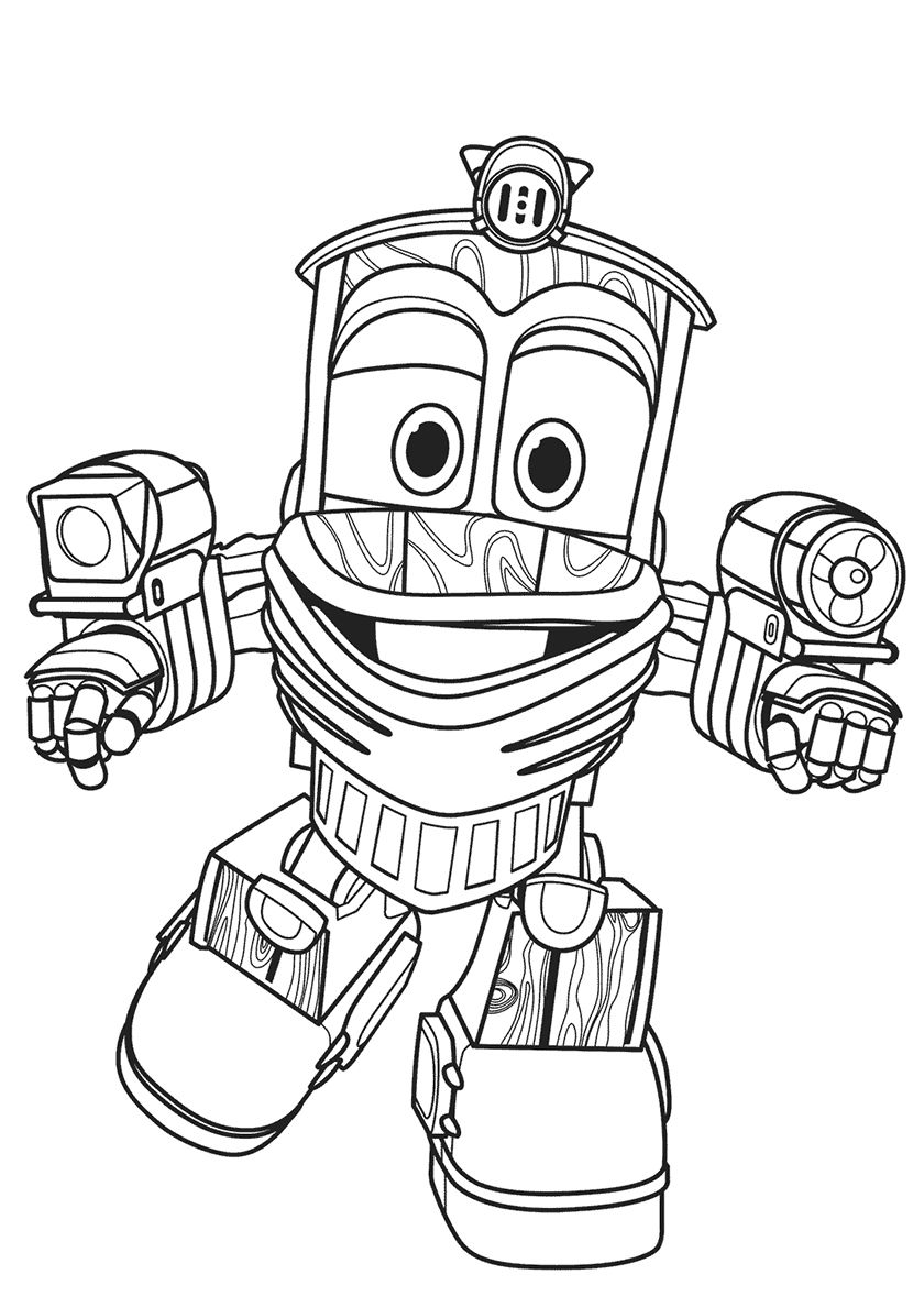 Funny Duck High Quality Free Coloring From The Category Robot Trains More Printable Pictur Train Coloring Pages Dinosaur Coloring Pages Lego Coloring Pages