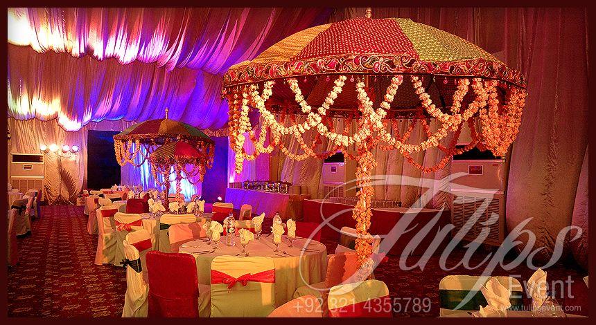 Mehndi Event Planner : Colorful pakistani wedding mehendi stage decoration setup