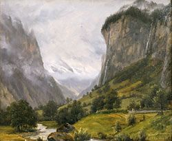 Thomas Fearnley (1802-1842): Valley of Lauterbrunnen, 26 August 1835