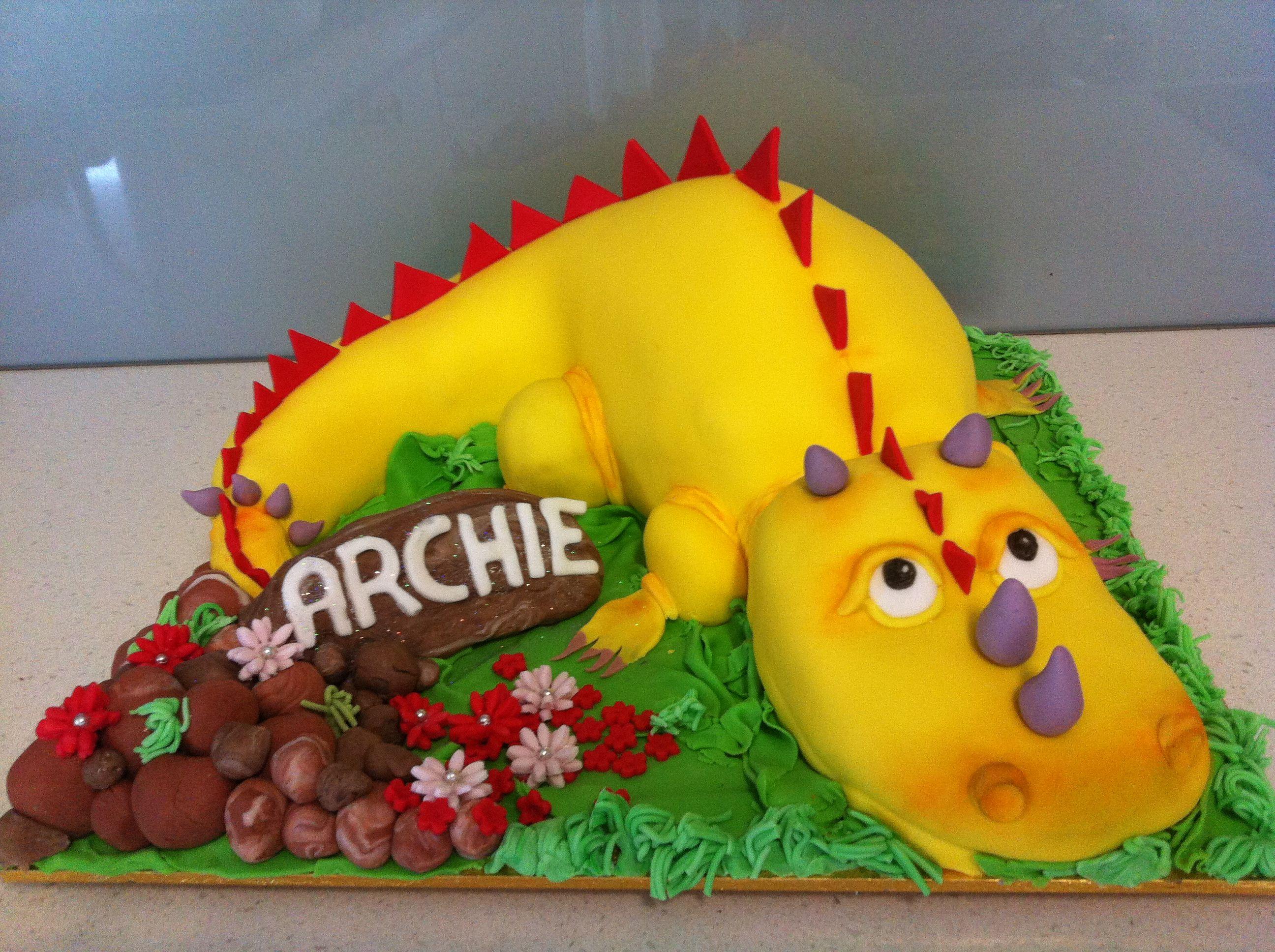 Dino cake with images dino cake cake archie