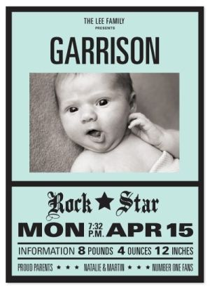 Cute birth announcement! Crazy for baby Pinterest Birth and Clever