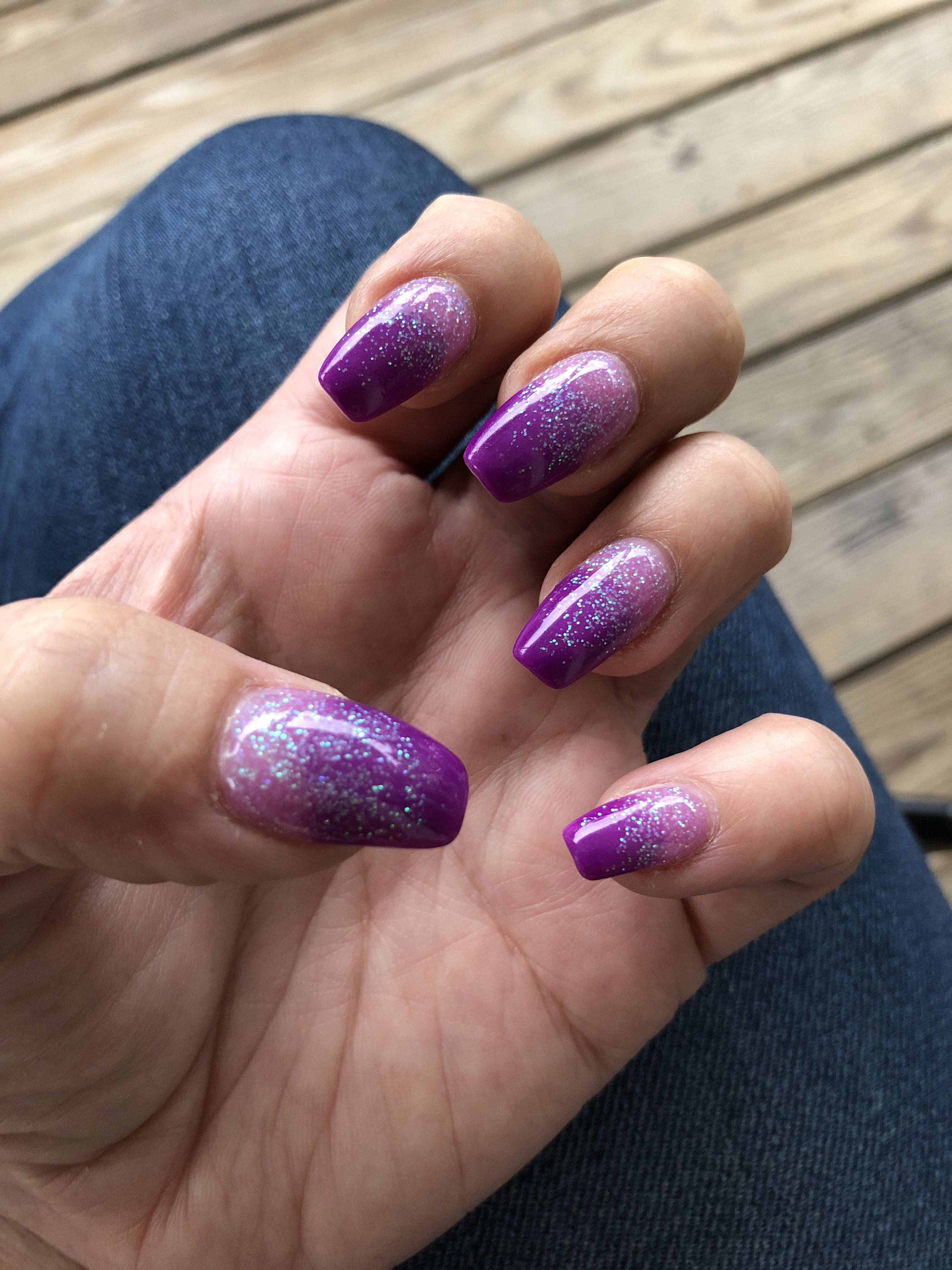 Purple Ombre Powder Dipped Nails Dipped Nails Nail Art Ombre Purple Nails