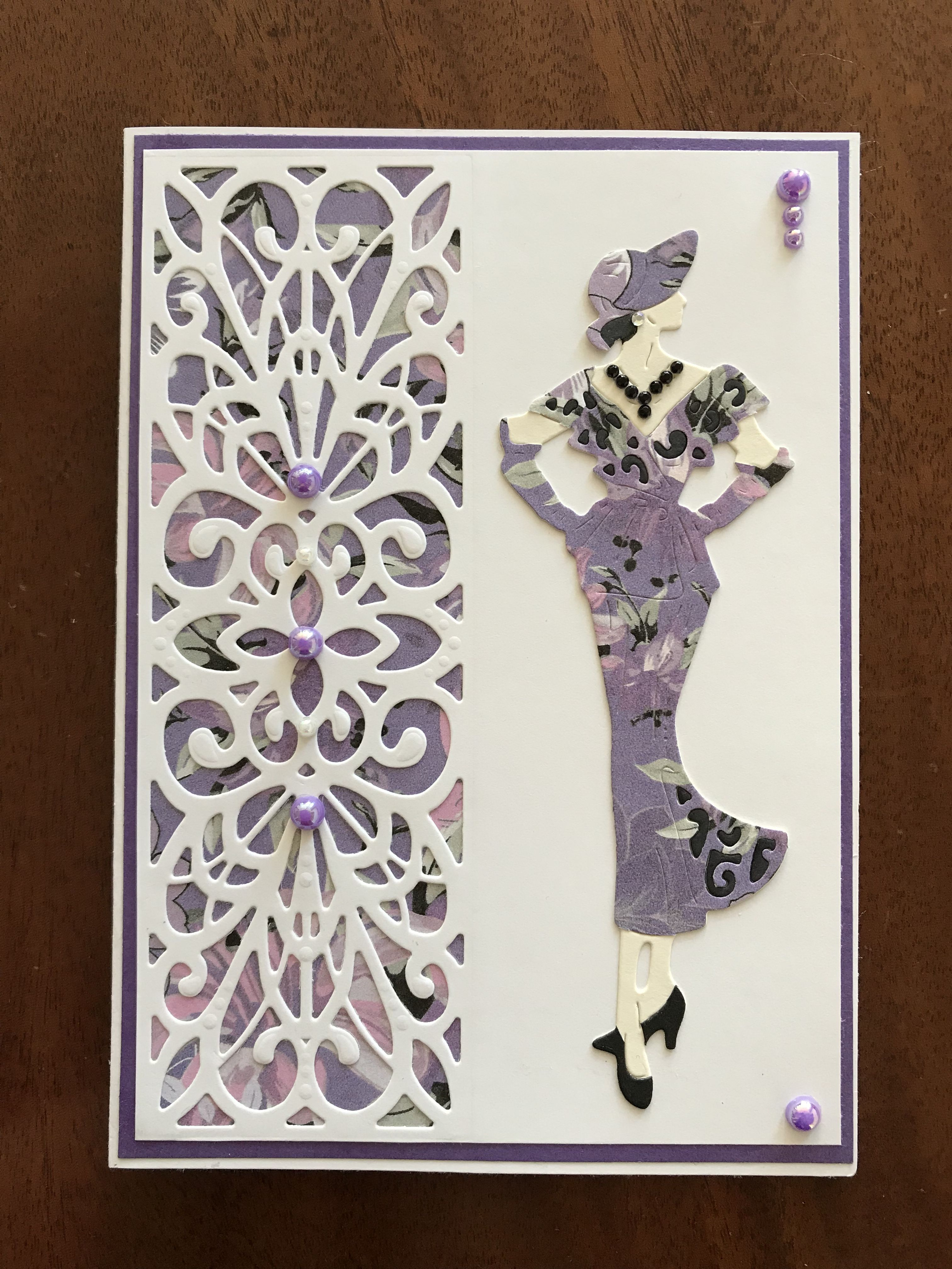50\'s lady die | vrouwenkaarten | Pinterest | 50th, Cards and ...