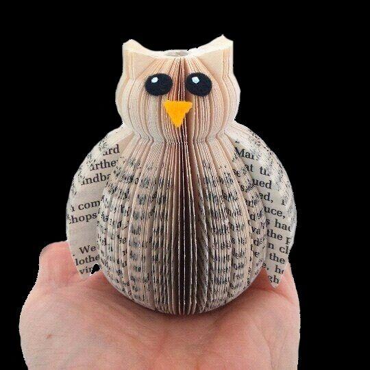 mini book owl ornament book art pinterest papier chouette et vieux livres. Black Bedroom Furniture Sets. Home Design Ideas