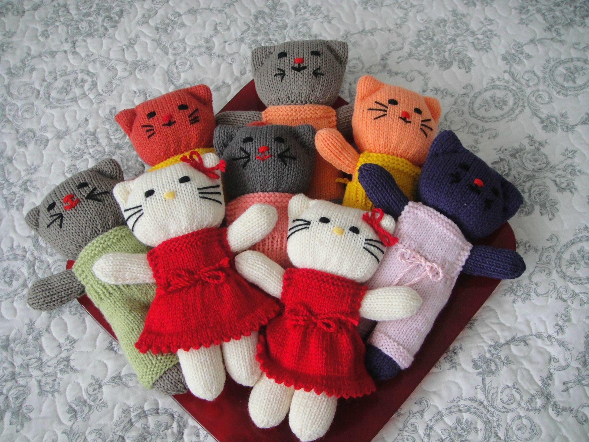 Hervorragend tricot animaux poupees patron | Voici une série de doudous. Les  KX69