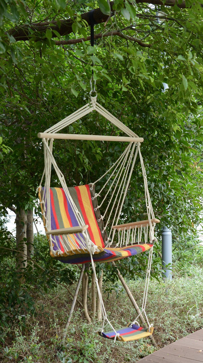 Boho Style Hanging Chair With Foot Rest In Various Colours Hanging Chair Hammock Swing Chair Diy Chair
