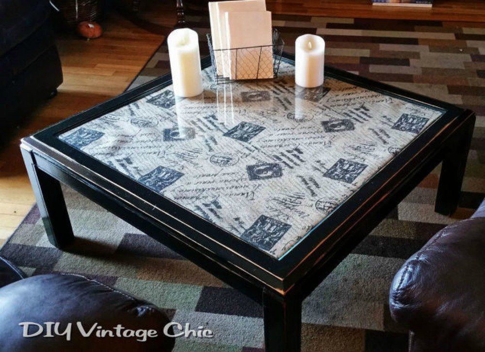 Diy Gl Coffee Table Makeover Easy