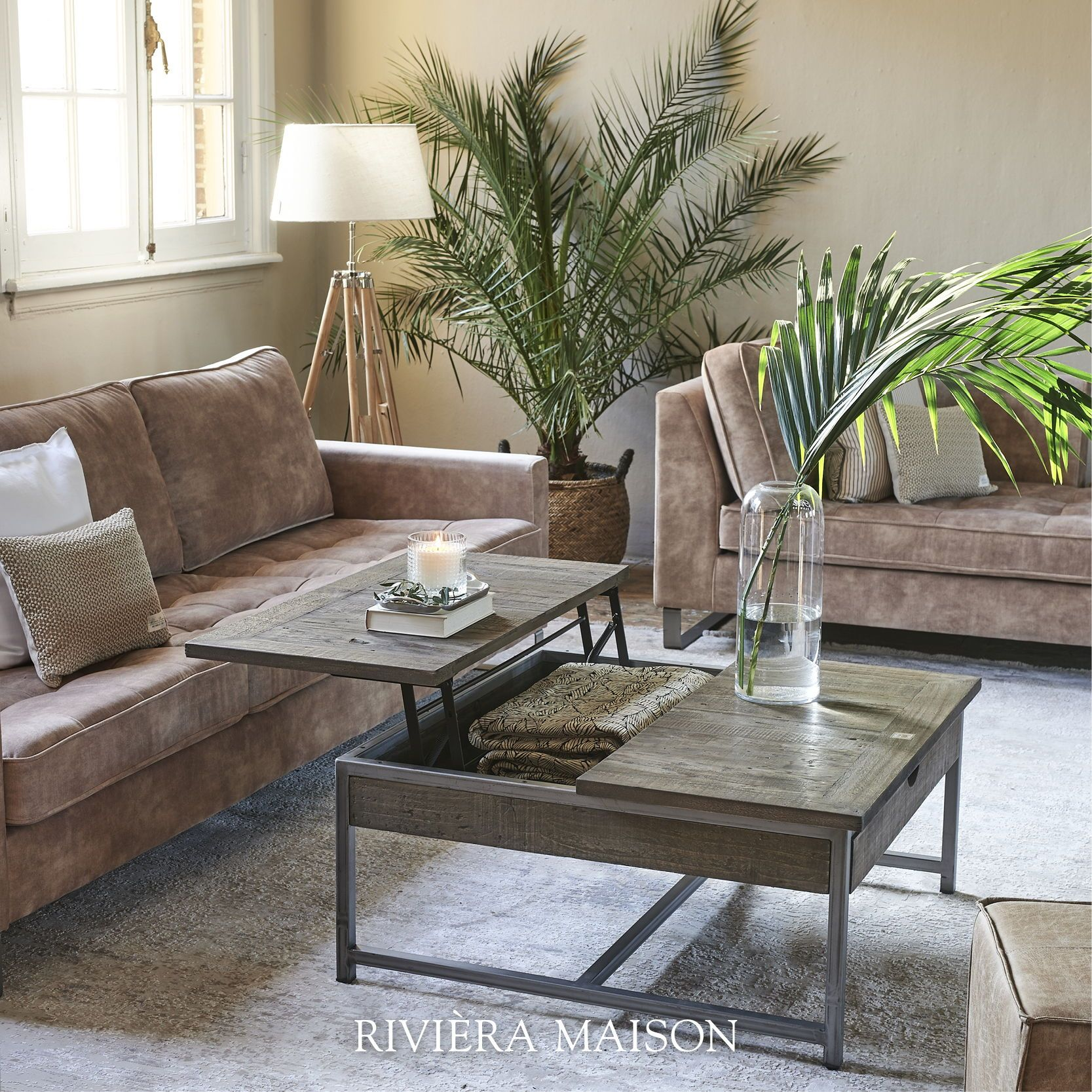 Riviera Maison Leren Bankstel.Riviera Maison Has A Wide Range Of Tables From Dining Tables To