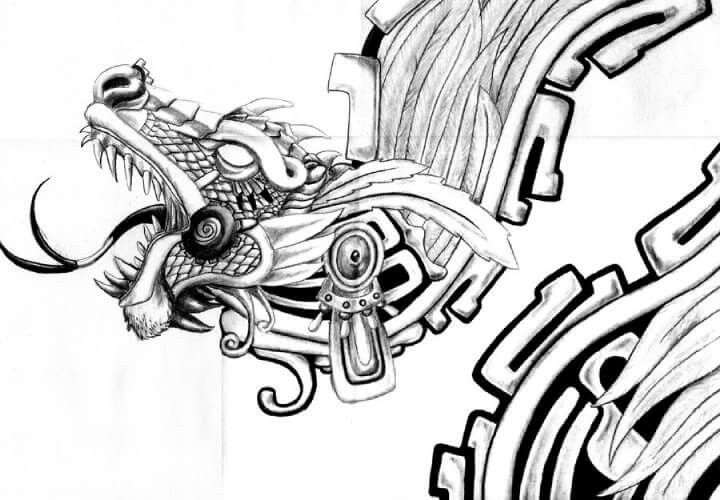 interpretation of the aztec feathered serpent god quetzalcoatl possible tattoo idea tattoo. Black Bedroom Furniture Sets. Home Design Ideas