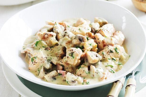 Pui cu ciuperci si sos cu mustar - www.Foodstory.ro