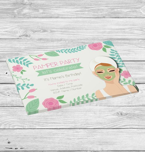 Pamper Party Invitation Spa Invitations Girls Invites