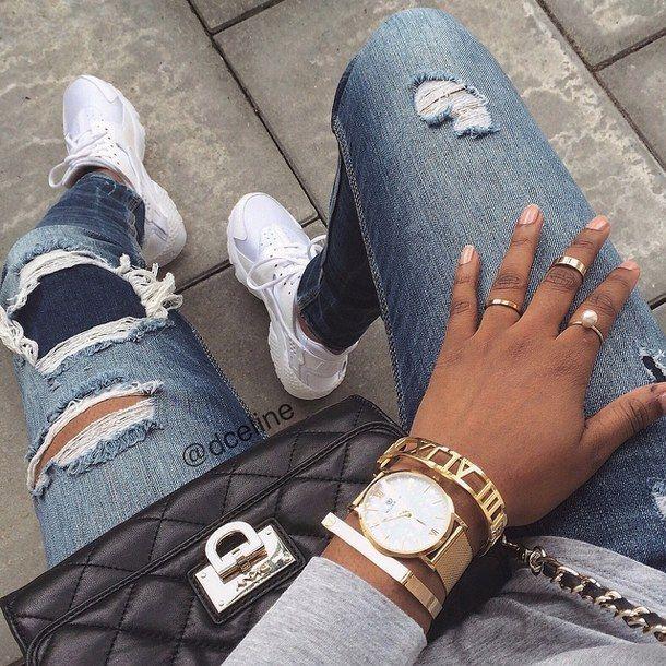 Explore Gold Jeans, Nike Huarache, and more!