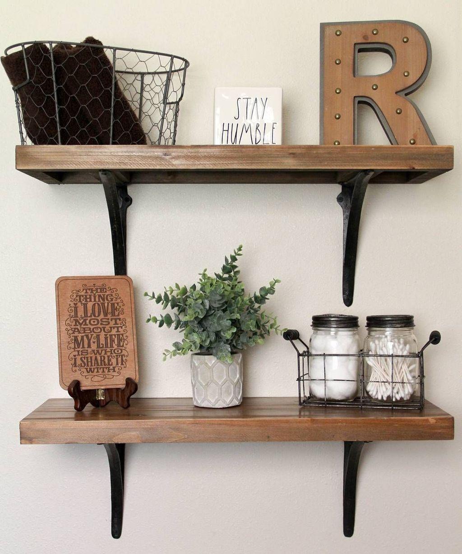 35 Comfy Diy Wooden Shelves Design Ideas For Bathroom