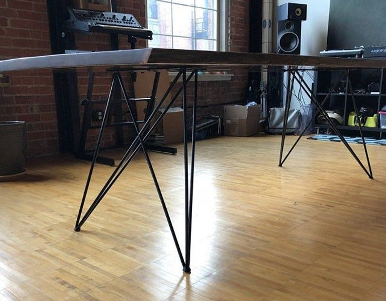Tapered Trapezoid Style Metal Table Bench Desk Legs Any Size
