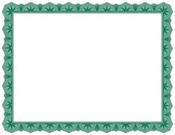 Green Certificate Border Certificate Border Green Certificate Scrapbook Frames