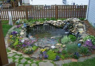 Small backyard pond and other birdbath ideas Home Garden and