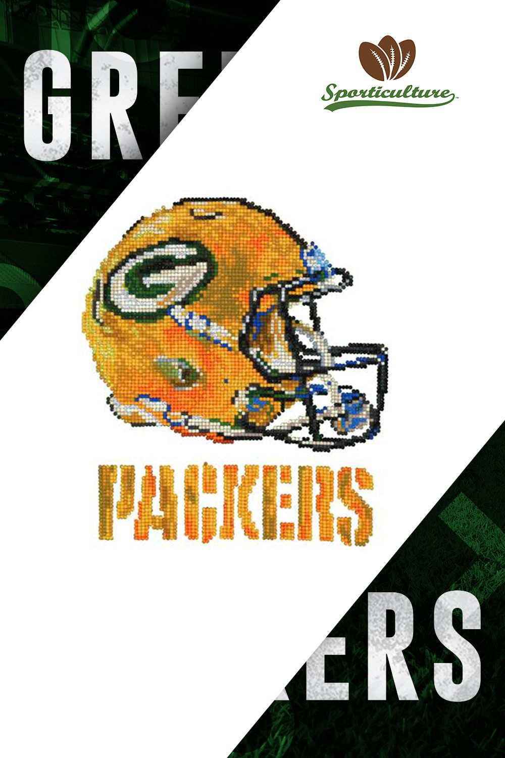 Showcase Your Green Bay Pride With This Diamond Craft Kit Not A Packers Fan We Have Products For All 32 Nfl Teams 32 Nfl Teams Packers Green Bay Packers