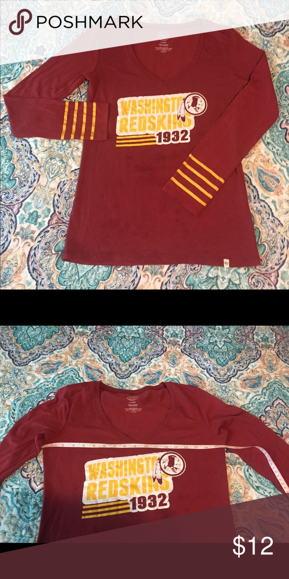 competitive price 1b1df ccd8a Long sleeve Washington Redskins T-shirt Long sleeve Redskins ...