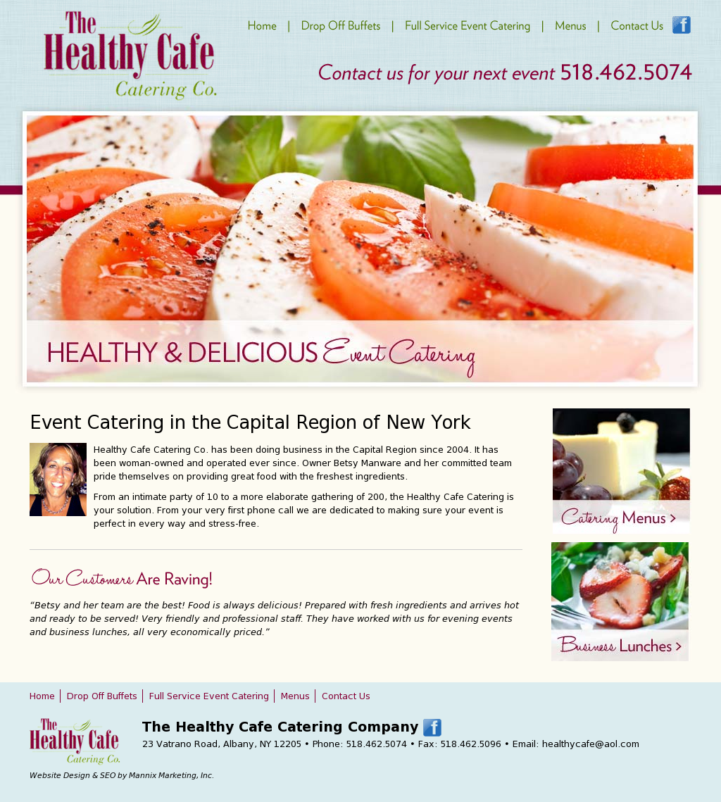 The Health Cafe Catering Co. Website Design Healthy